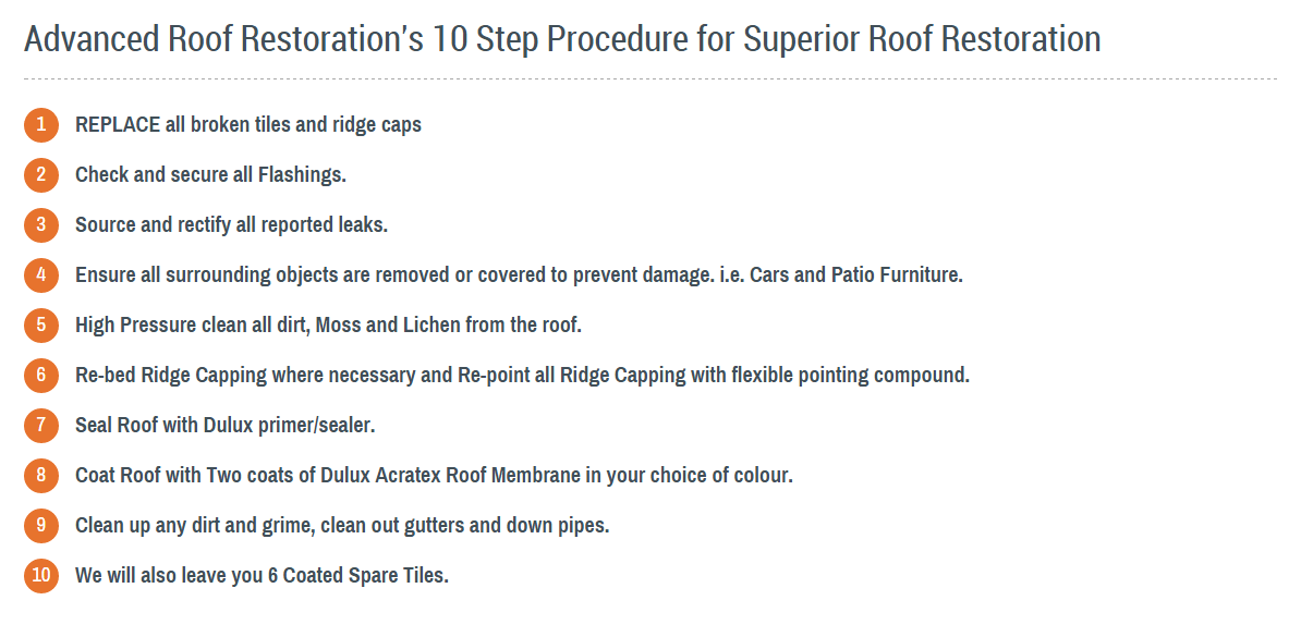 Our Roof Restoration Procedure
